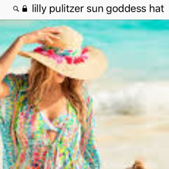 33d8c571e41 Lilly Pulitzer Accessories - Lilly Pulitzer sun goddess hat
